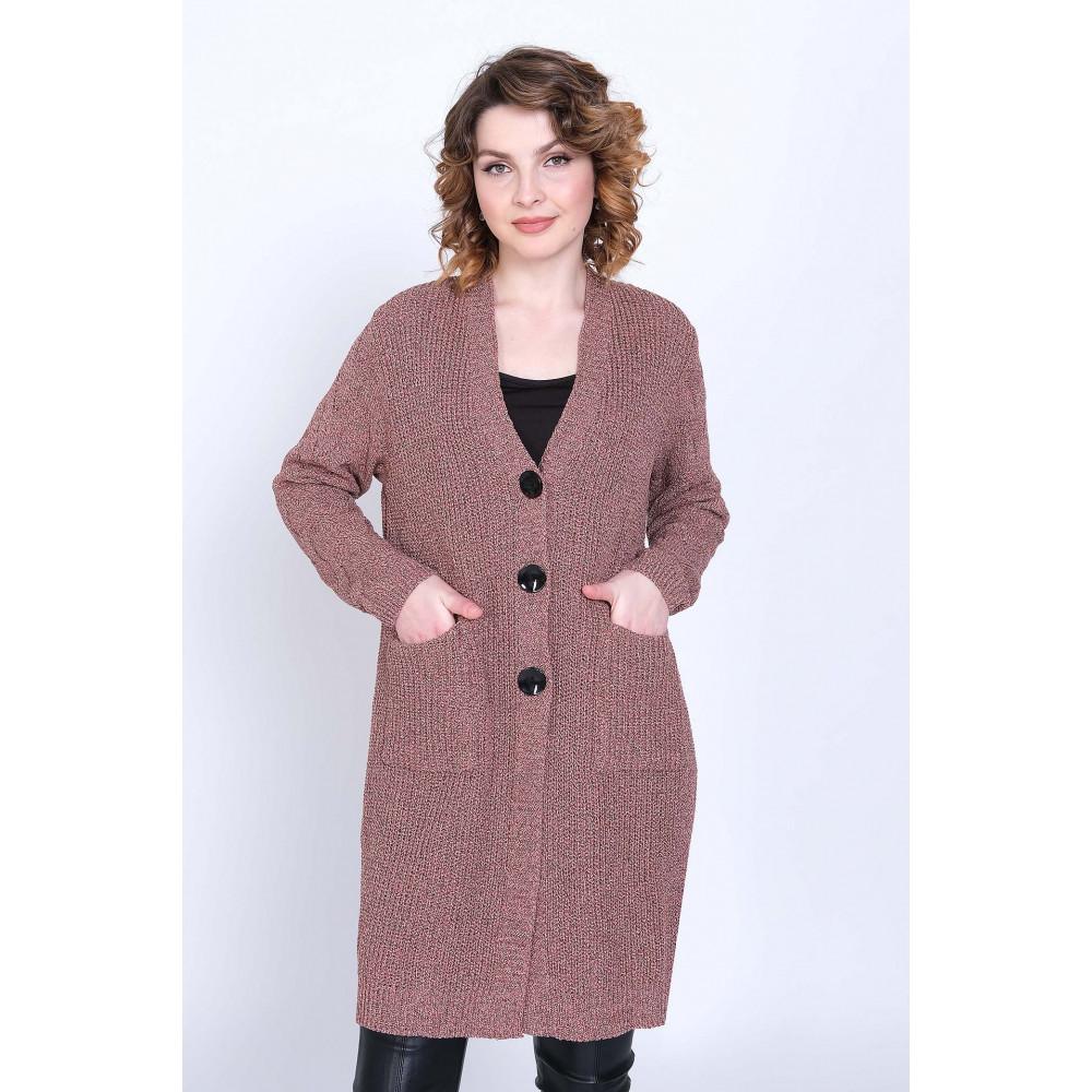 Кардиган 351044 . Вязаный трикотаж оптом от производителя. Женская одежда оптом в магазине Анколи