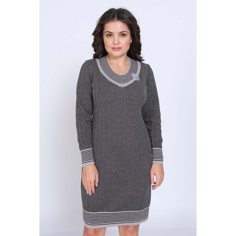 Платье К 1196 . Вязаный трикотаж в розницу от производителя. Женская одежда в магазине Анколи