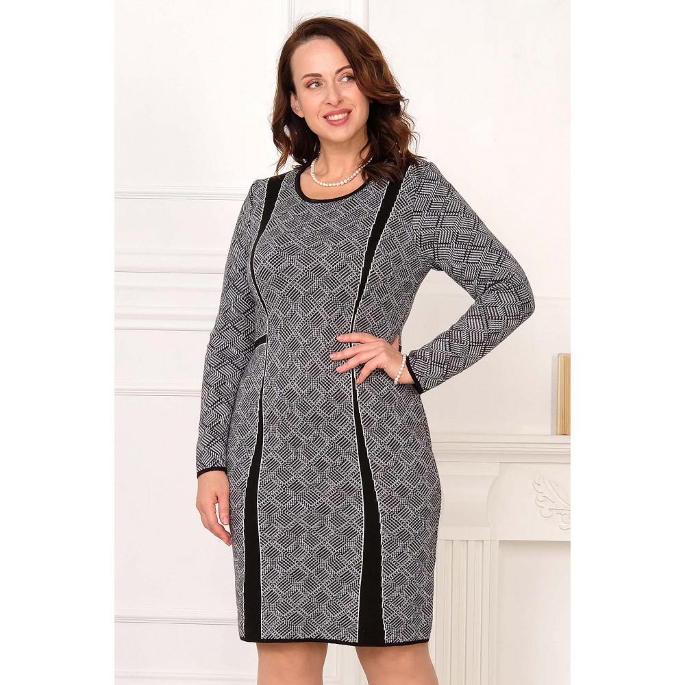 Платье М 2033 . Вязаный трикотаж в розницу от производителя. Женская одежда в магазине Анколи