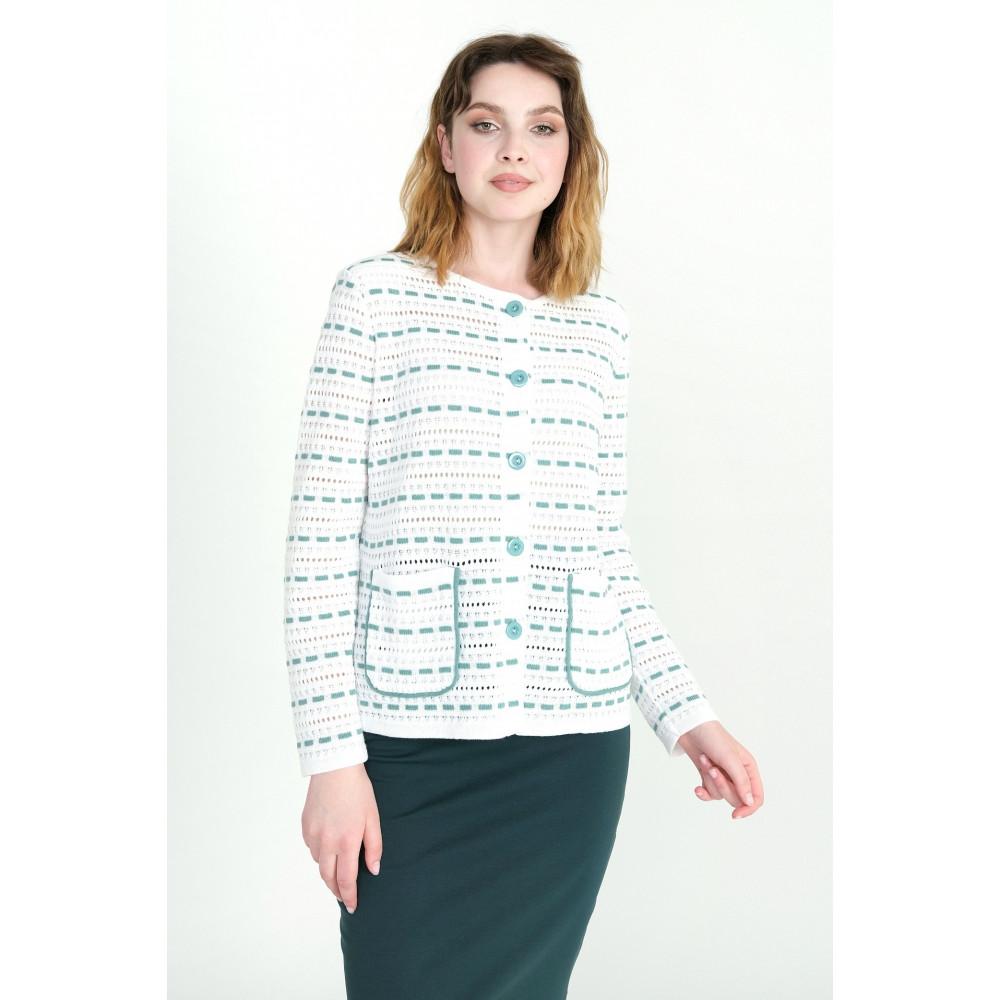 Жакет Д 2200 . Вязаный трикотаж в розницу. Женская одежда от производителя в магазине Анколи