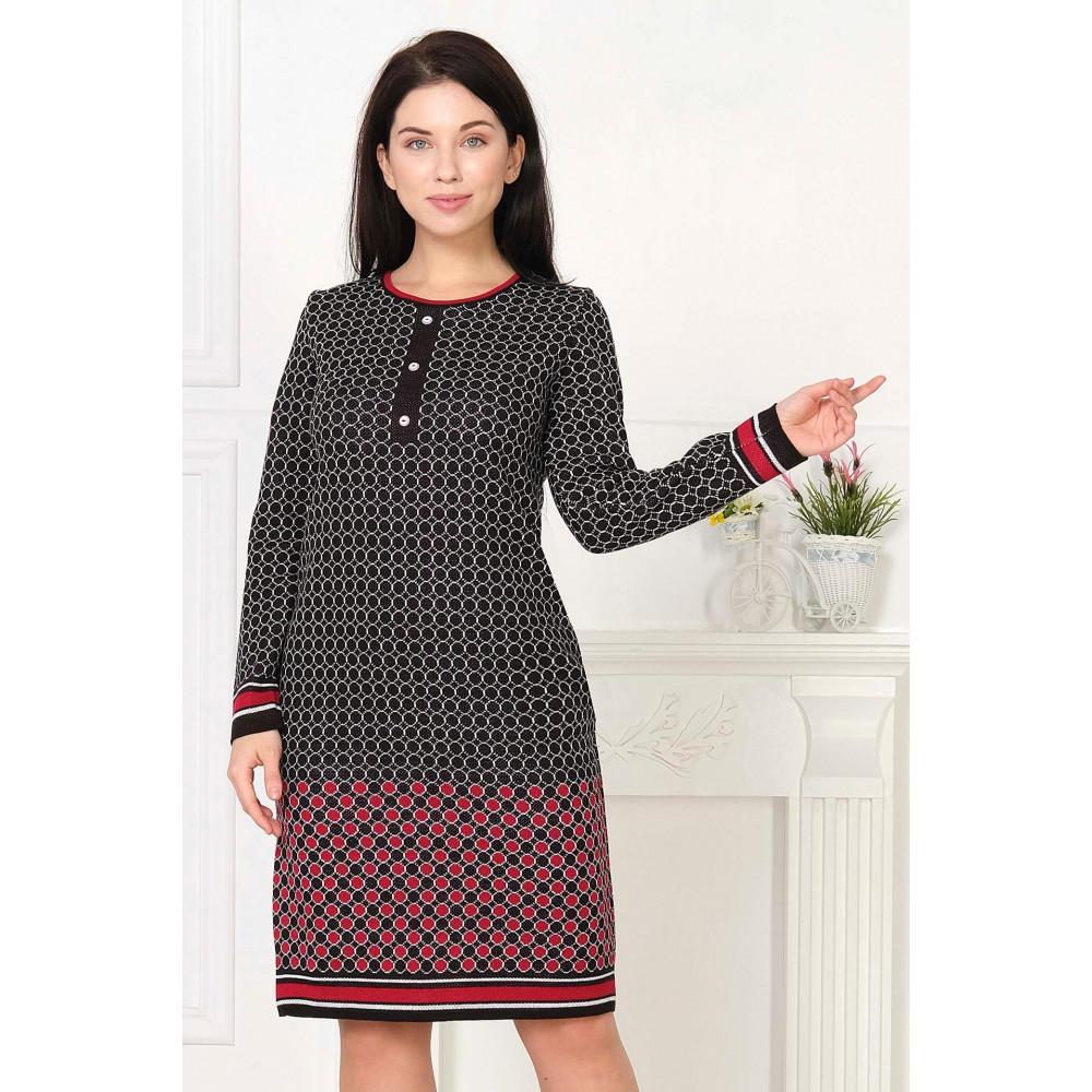Платье К 857д . Вязаный трикотаж в розницу от производителя. Женская одежда в магазине Анколи