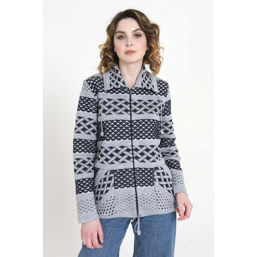 Жакет 5-1645В . Вязаный трикотаж оптом от производителя. Женская одежда оптом в магазине Анколи