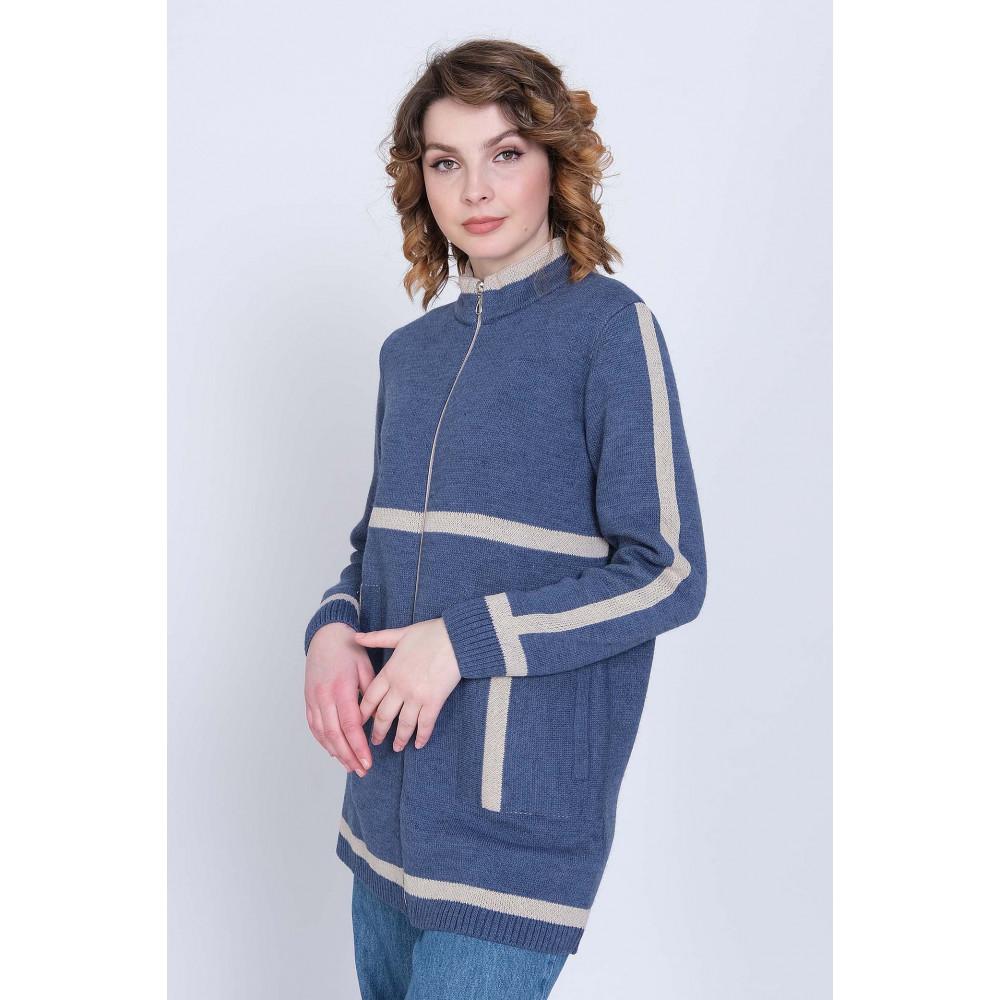 Жакет Д 2468 . Вязаный трикотаж оптом от производителя. Женская одежда оптом в магазине Анколи
