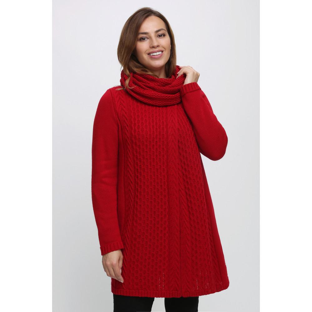 Кардиган 351052 снуд . Вязаный трикотаж оптом от производителя. Женская одежда оптом в магазине Анколи