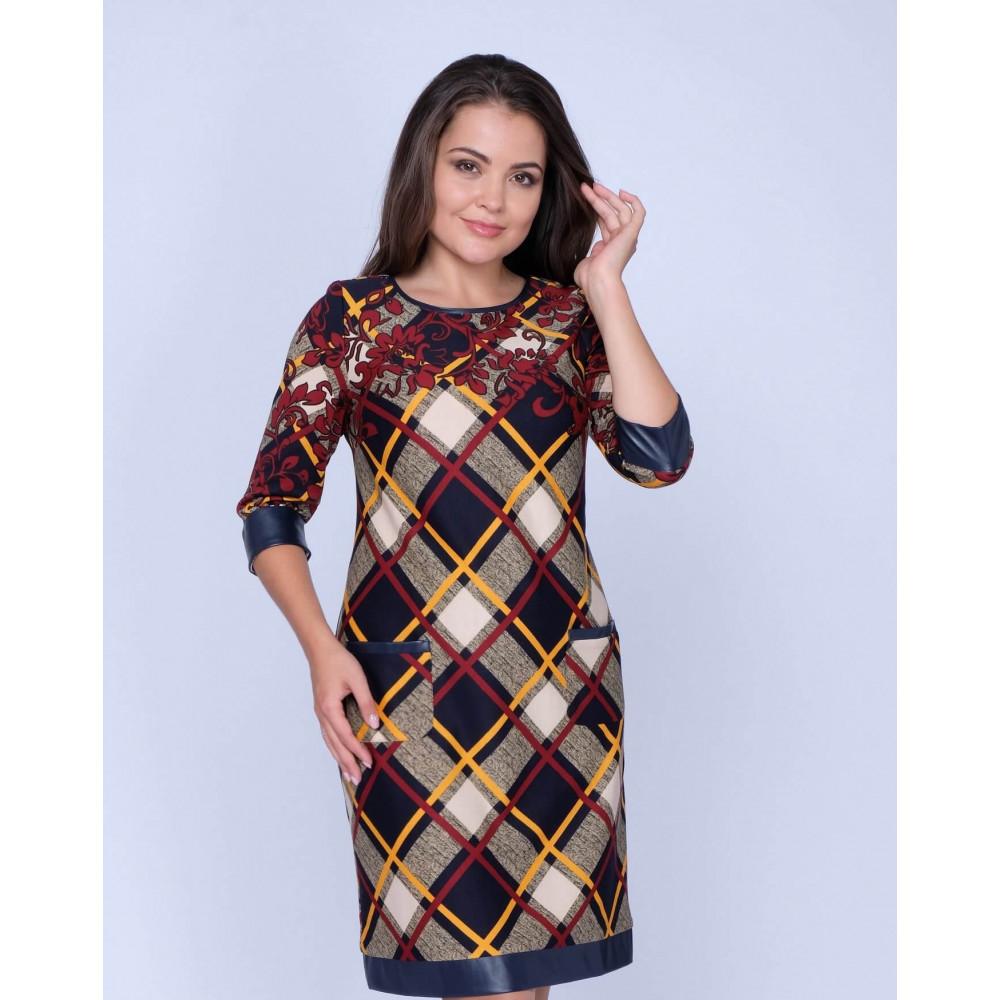 Платье Бш 2694 Бш -2597 . Вязаный трикотаж оптом от производителя. Женская одежда оптом в магазине Анколи