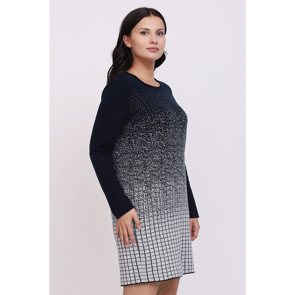 Платье А-293 . Вязаный трикотаж в розницу от производителя. Женская одежда в магазине Анколи